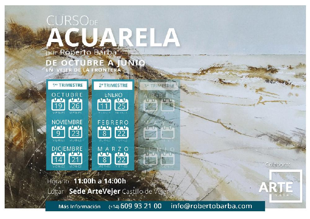 Curso de Acuarela Vejer Cadiz- Roberto Barba