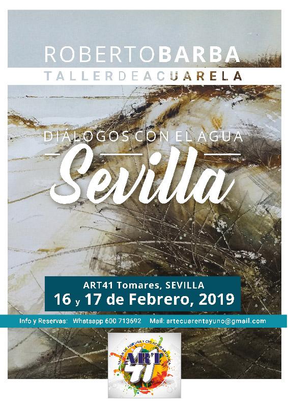 Dialogos con el Agua - Sevilla - 1617Feb2019 - Curso de Acuarela - Roberto Barba