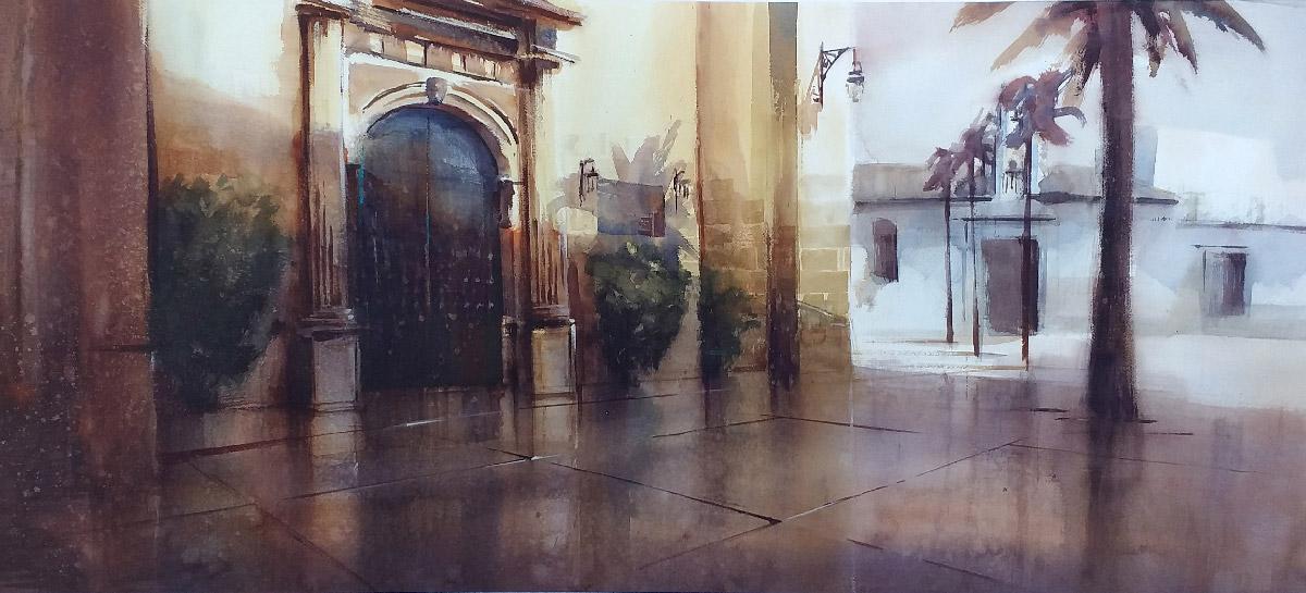 Plaza de la Parroquia - I Certamen de Pintura Rápida Ciudad -de Chipiona 2019